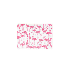 Hello Lucky Pink Flamingoes Card