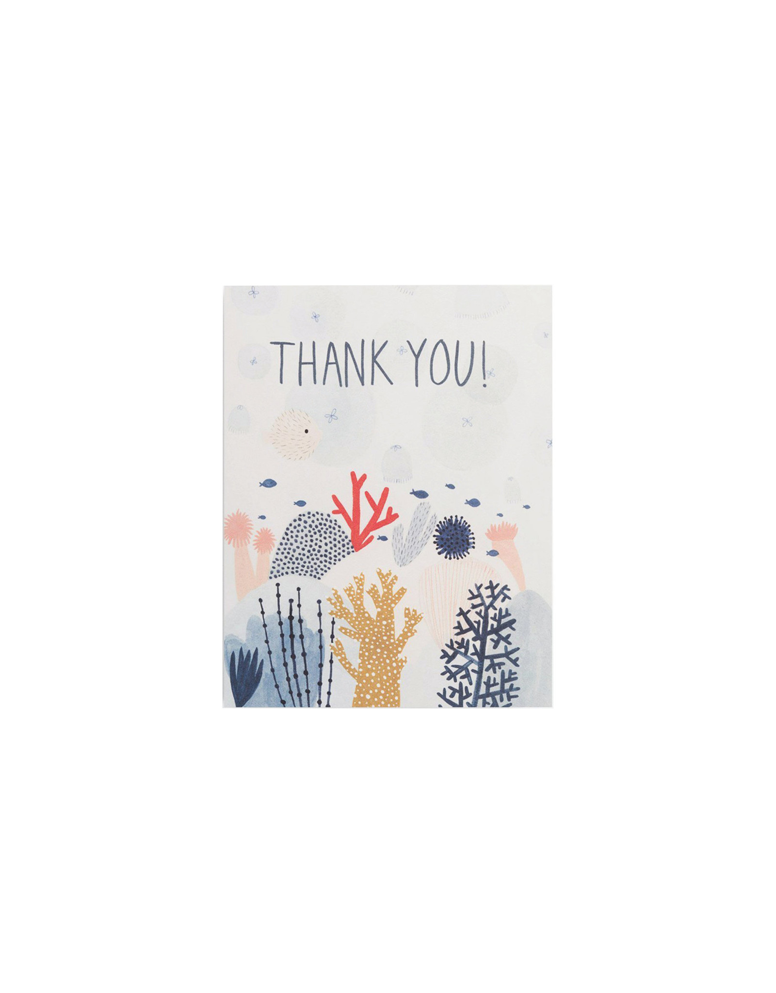 Red Cap Coral Thank You Card