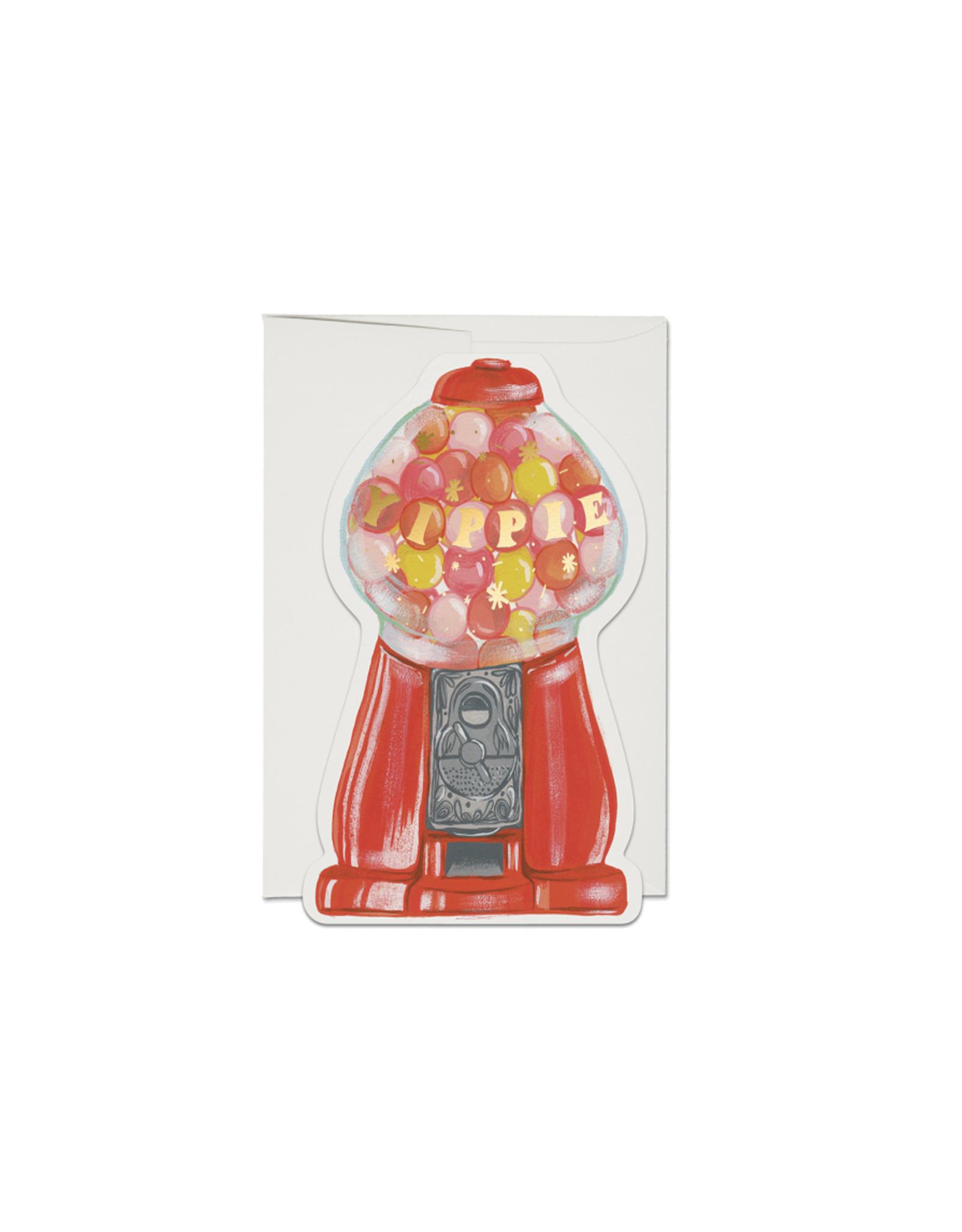 Red Cap Gum Ball Machine Card