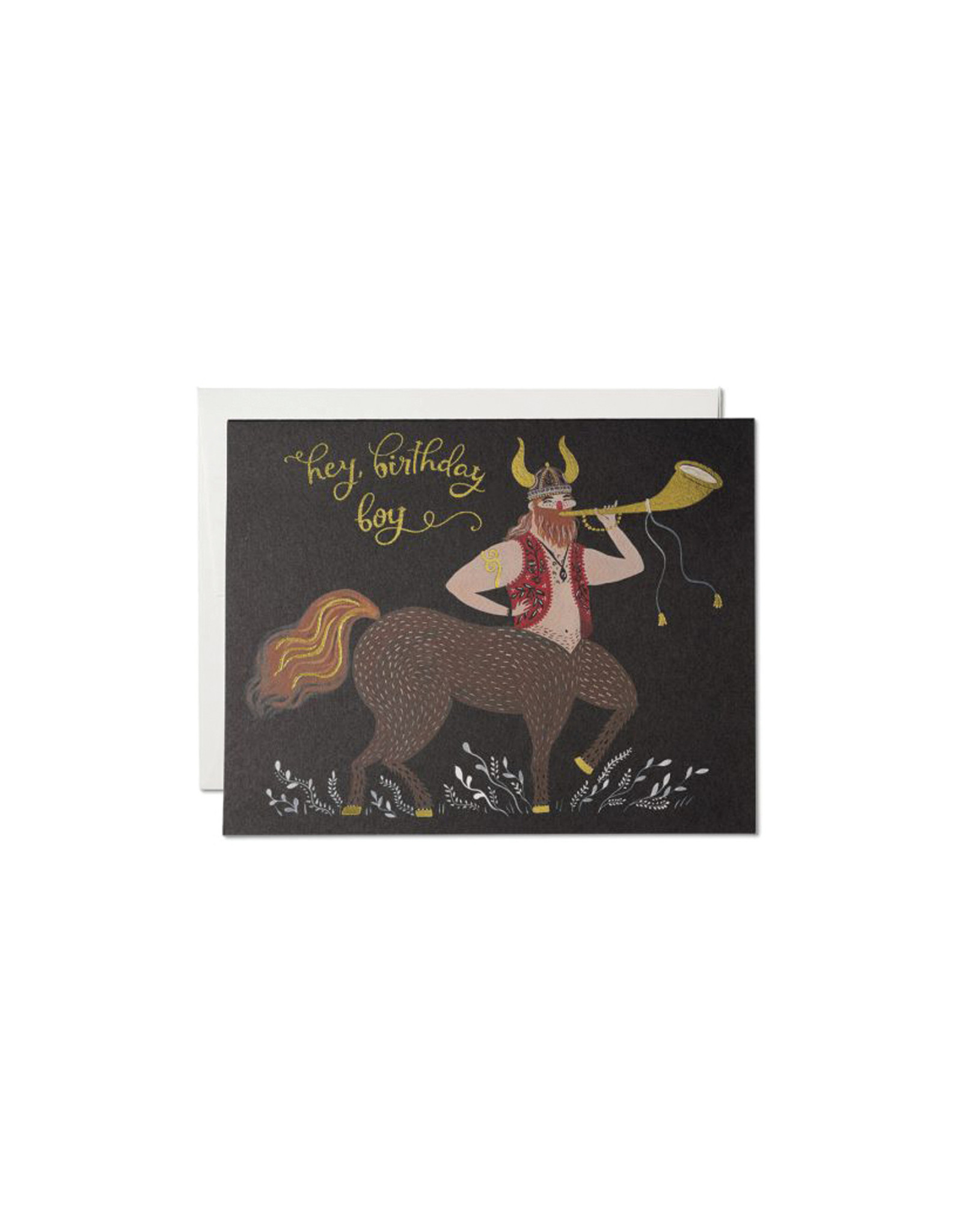 Red Cap Happy Birthday Centaur Card