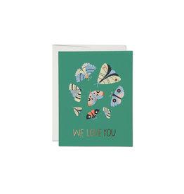 Red Cap Moth Magic We Love You Card