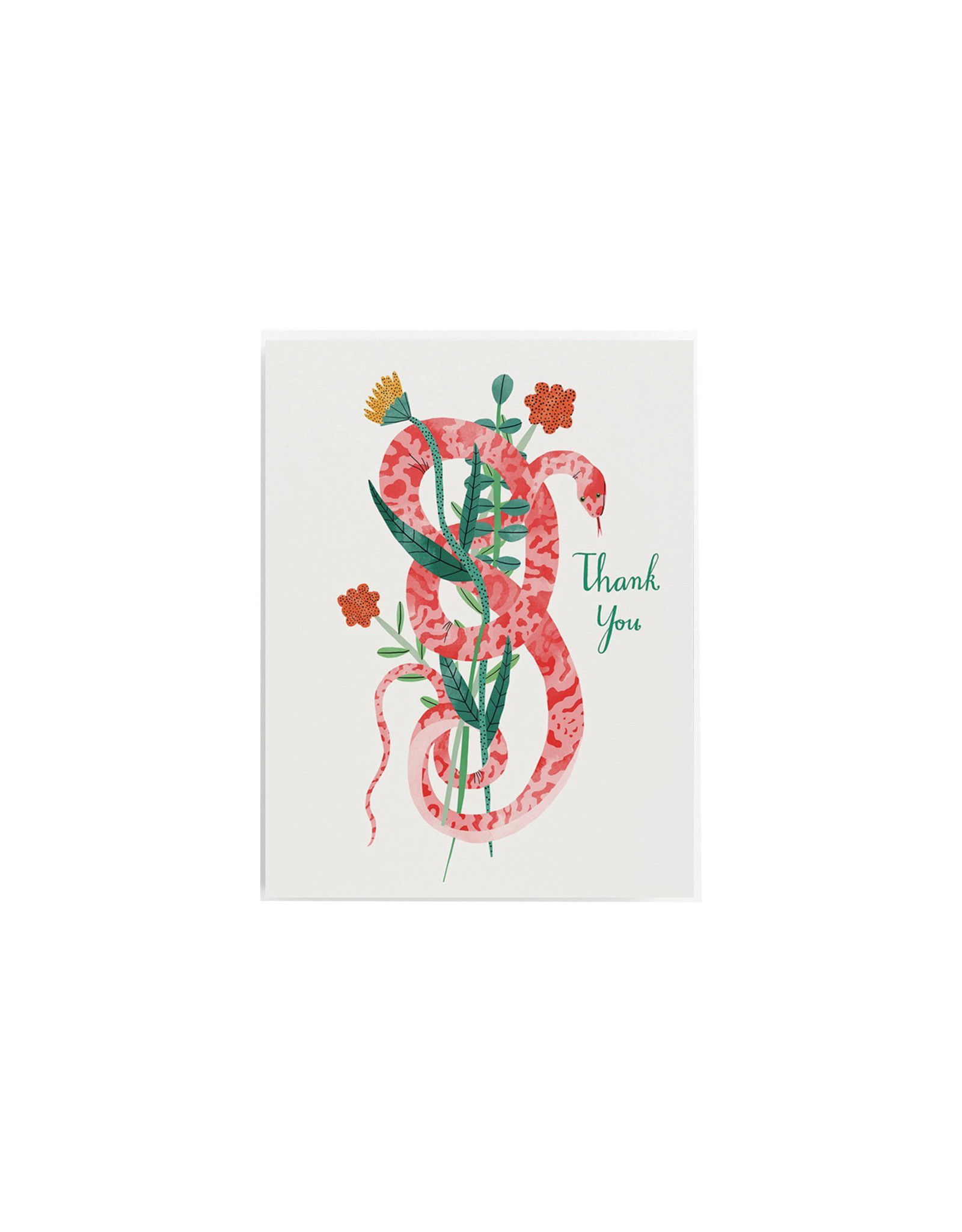 Red Cap Snake Thank You Card