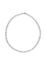 Lover's Tempo Chain Reaction Necklace, Silver