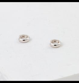 Lover's Tempo Bea Hoop Earrings, Silver