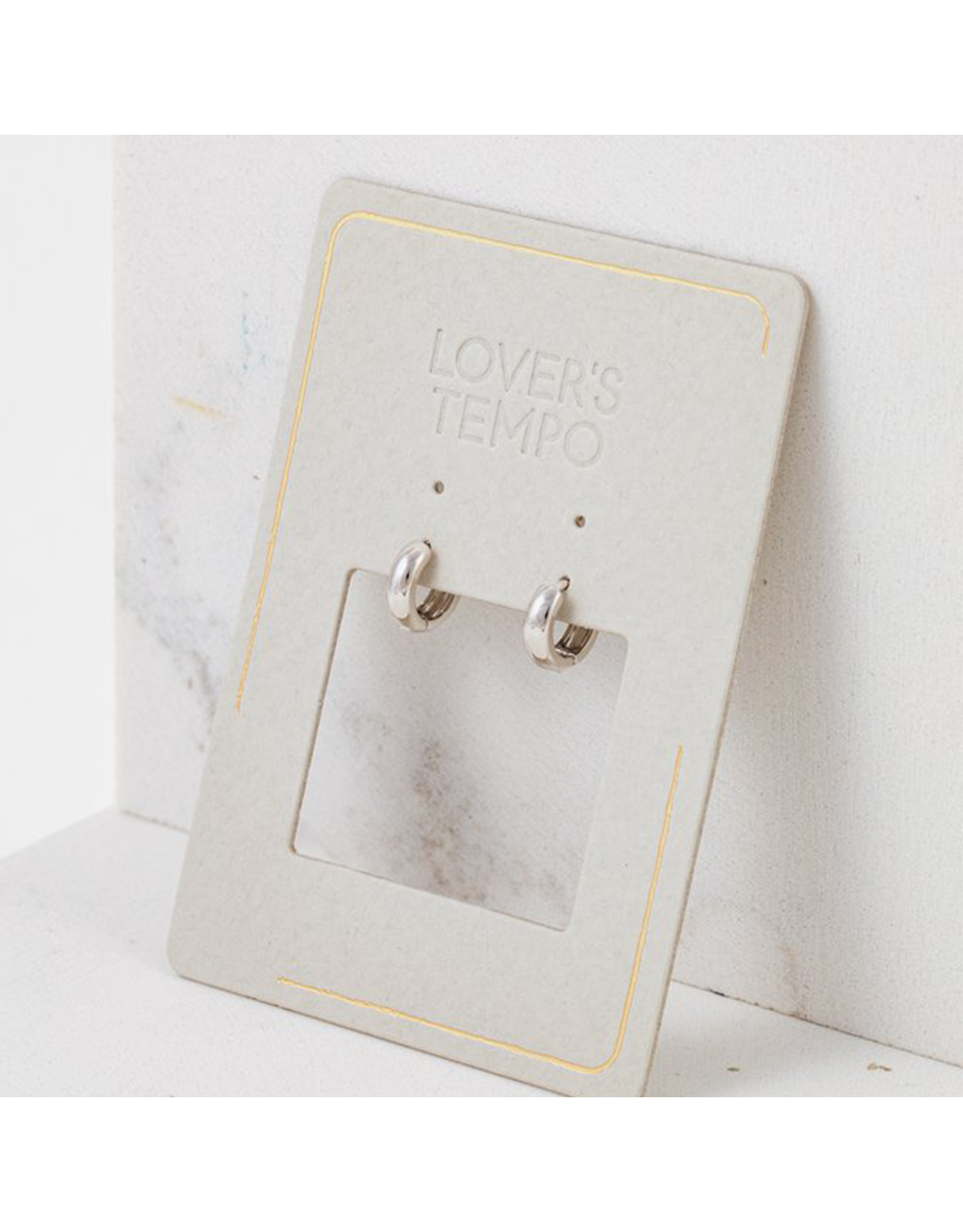 Lover's Tempo Bea Hoop Earrings, Silver