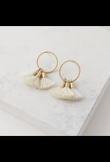 Lover's Tempo Duster Tassel Earrings, Ivory