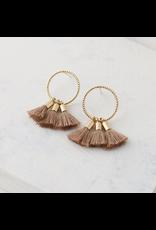 Lover's Tempo Duster Tassel Earrings, Nude