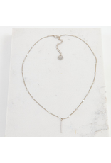 Lover's Tempo Everly Bar Necklace, Silver