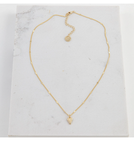 Lover's Tempo Everly Heart Necklace, Gold