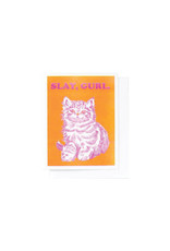 Yellow Owl Slay Girl Riso Card