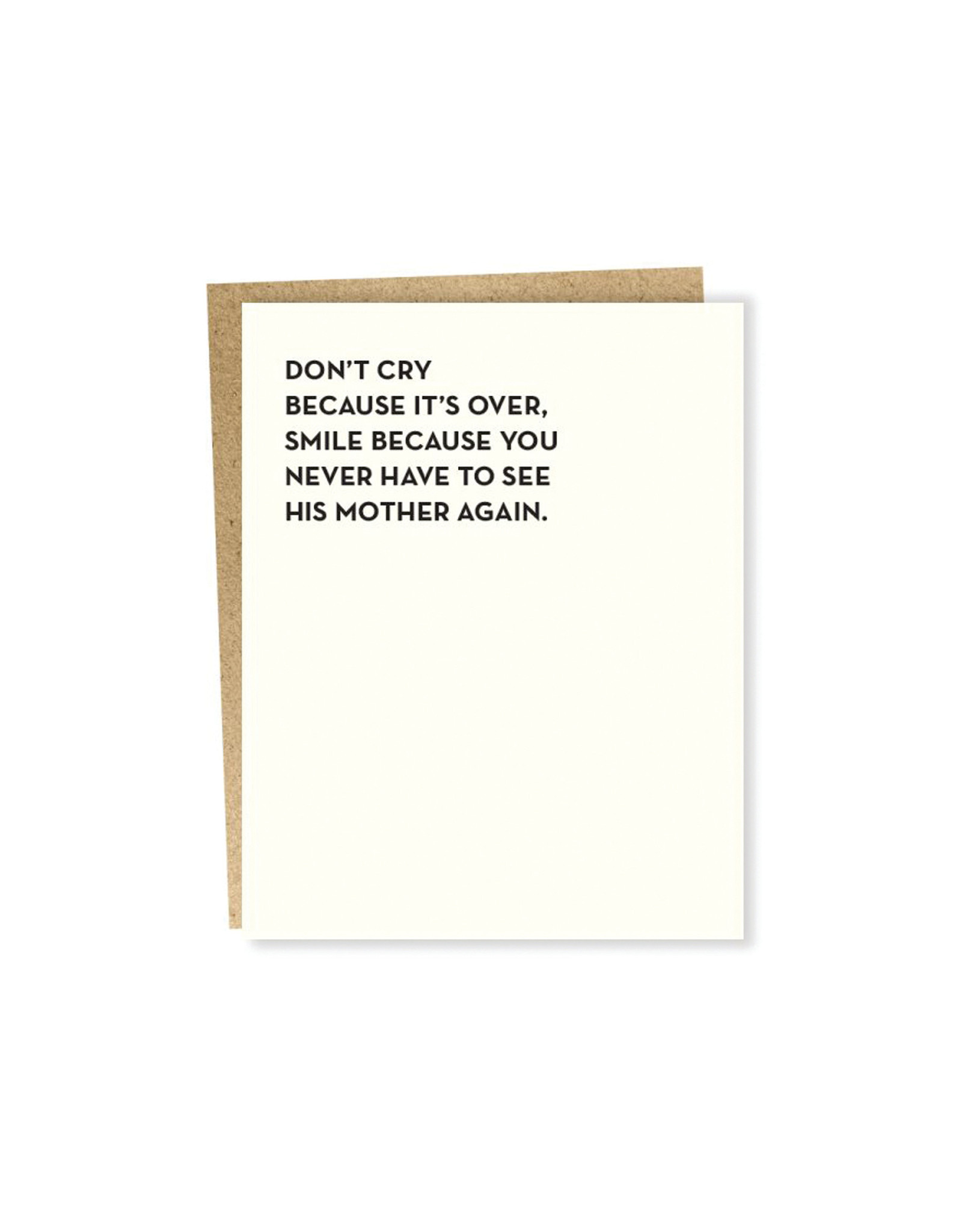 Sapling Don't Cry It's Over Card