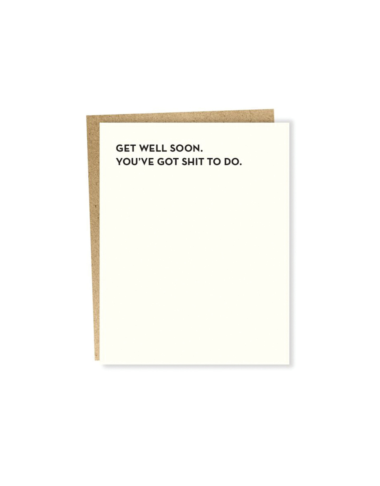 Sapling Press Moment of Truth Get Well Soon Card