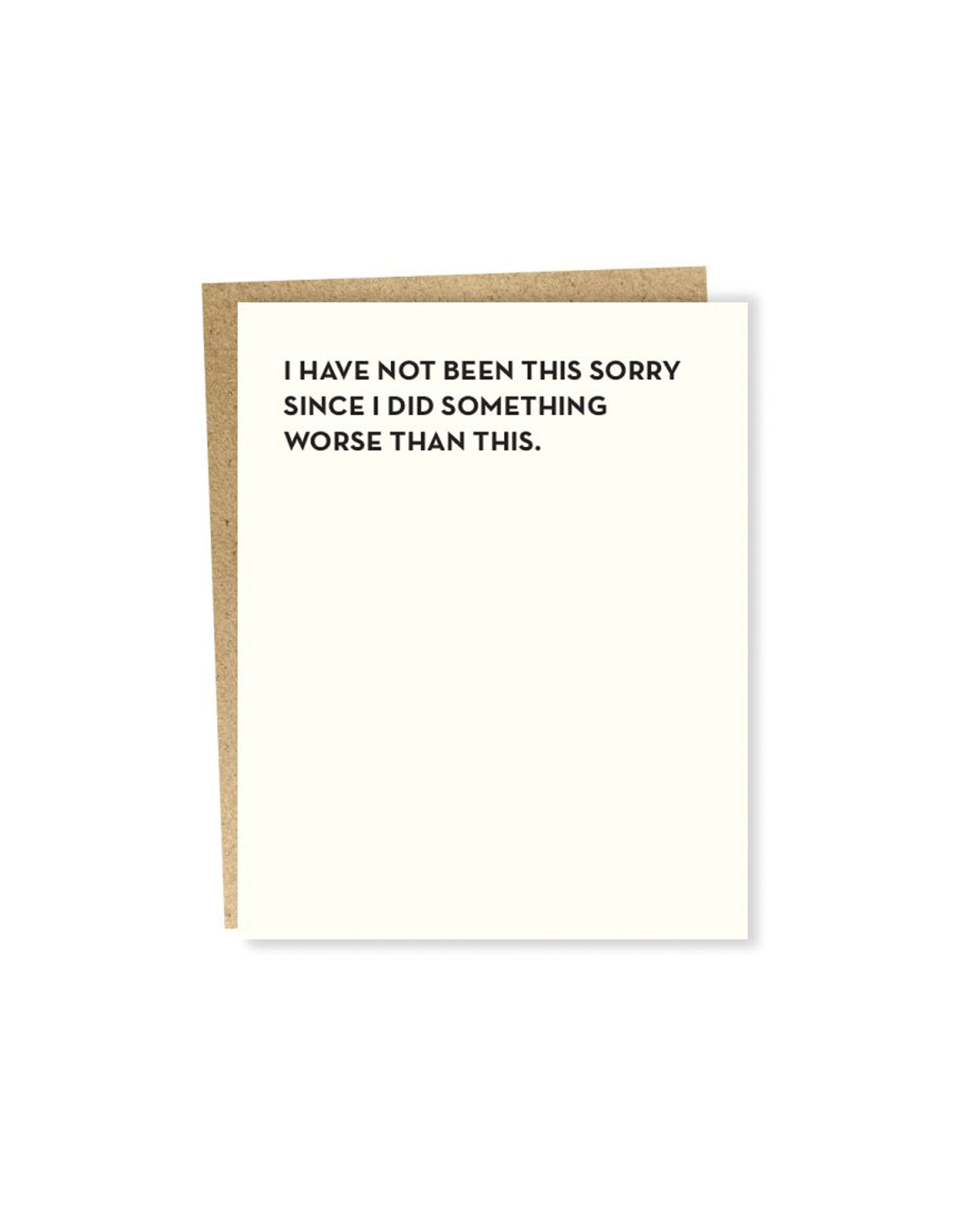 Sapling Press, Moment of Truth, Not Been This Sorry Card