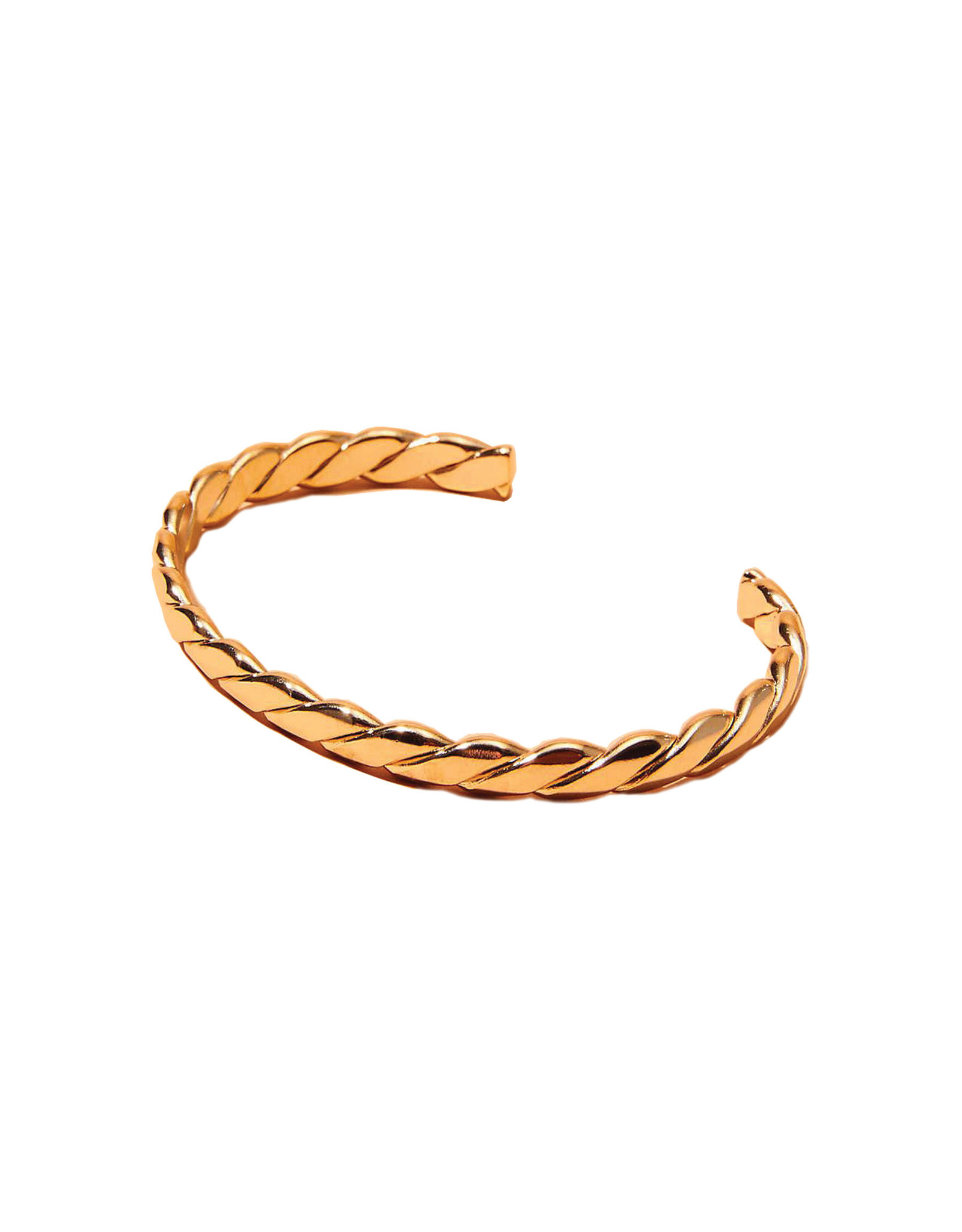 Maslo Braided Cuff, Gold