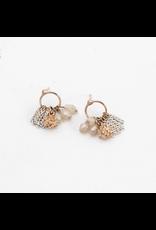 Lover's Tempo Jardin Cluster Hoop Earring, White