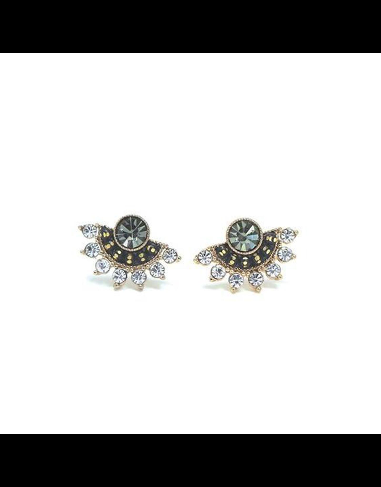 Lover's Tempo Nico Fan Earrings, Black Diamond