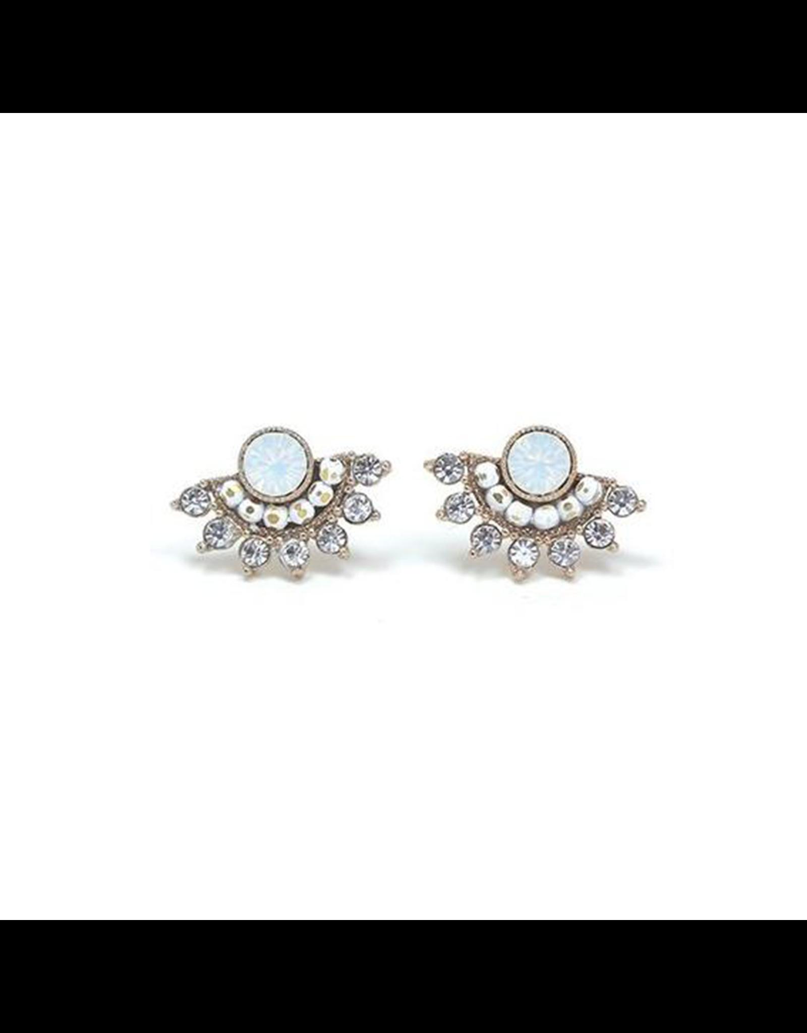 Lover's Tempo Nico Fan Earrings, White Opal