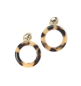 Lover's Tempo Odessa Hoop Earrings, Tortoise