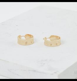 Lover's Tempo Sunburst Hoop Earrings, Gold