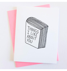 Ashkahn Things I Like About You Card