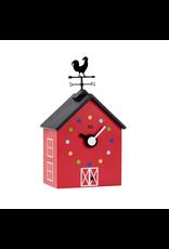 Kookoo Red Barn Wall Clock