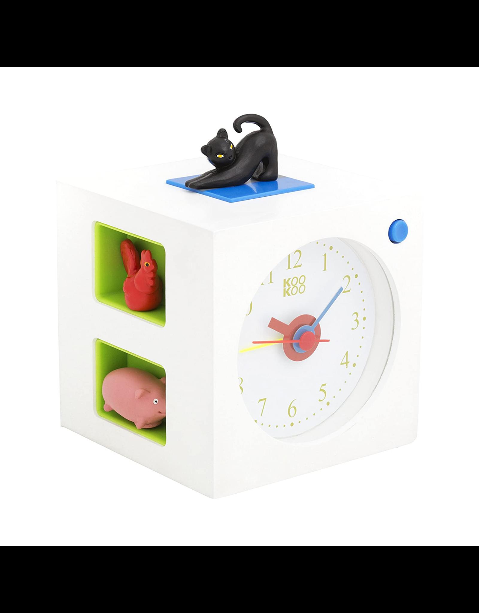Kookoo Kid's Alarm Clock, White