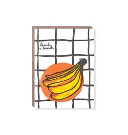 Egg Press Banana Thank You Card