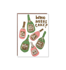 Egg Press Bubbles (Who Needs Cake?) Birthday Card