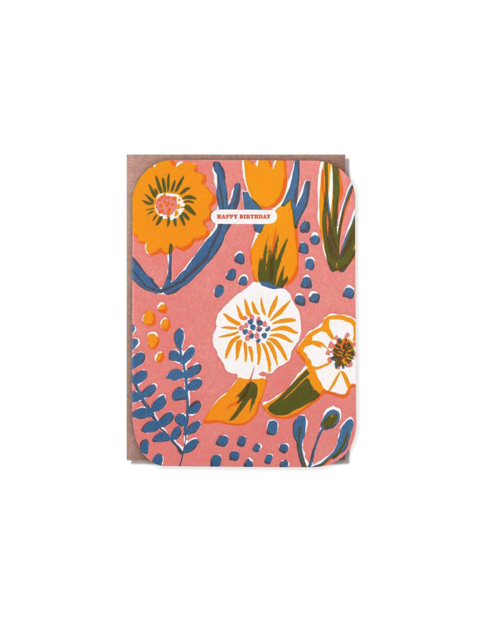 Egg Press Saturated Florals Cutout Birthday Card