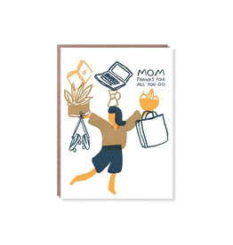Egg Press Thanks Juggling Mom Mother's Day Card