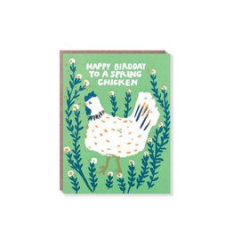 Egg Press Spring Chicken Birthday Card