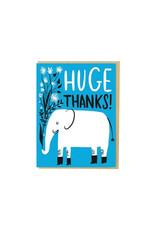 Hello Lucky Elephant Huge Thanks Card