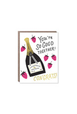 Hello Lucky Strawberries and Champagne Card