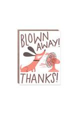 Hello Lucky Blown Away Thanks Card