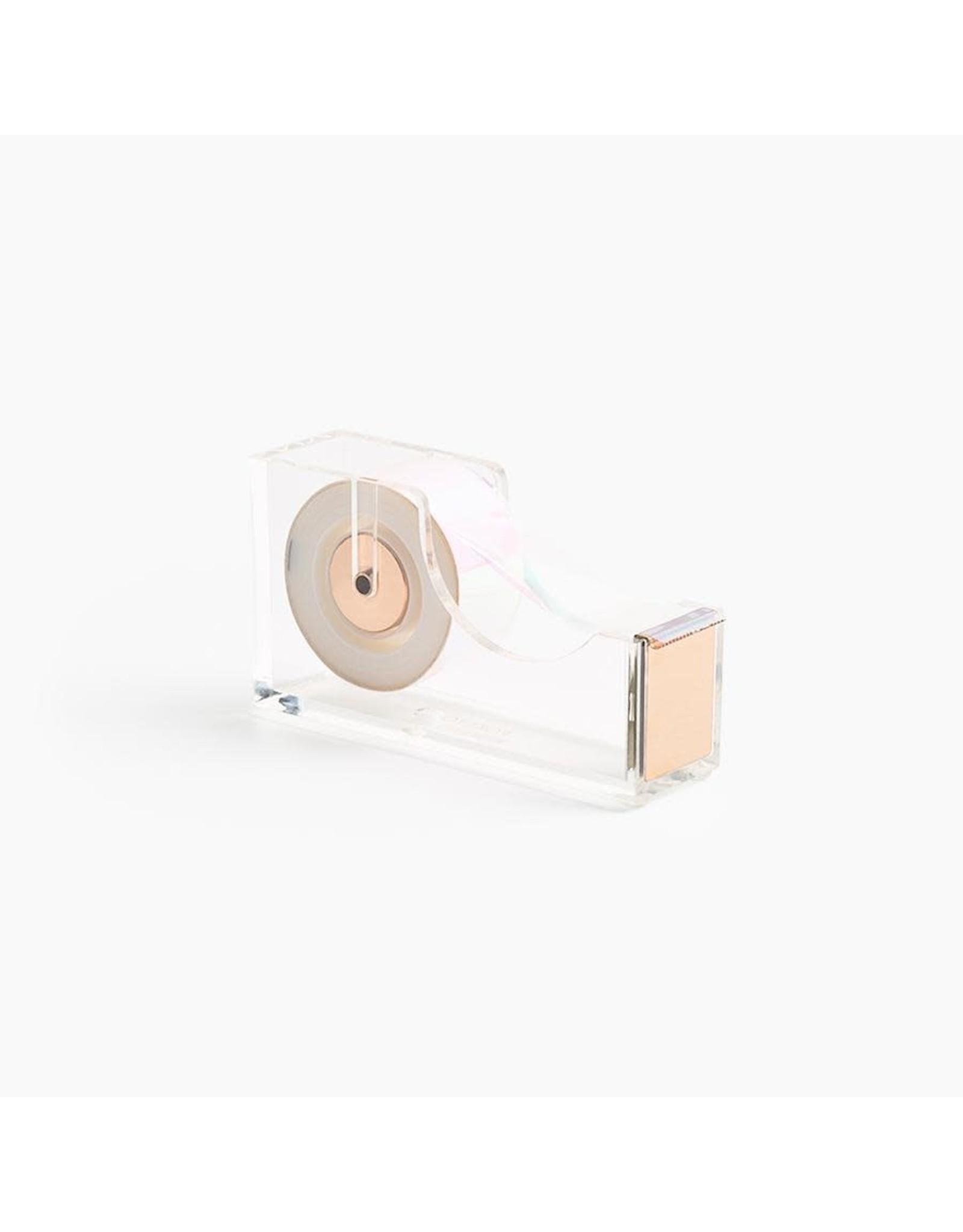 Poketo Lucite Tape Dispenser Gold