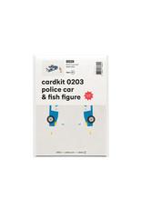 cardkit 0203: police car & fish figure
