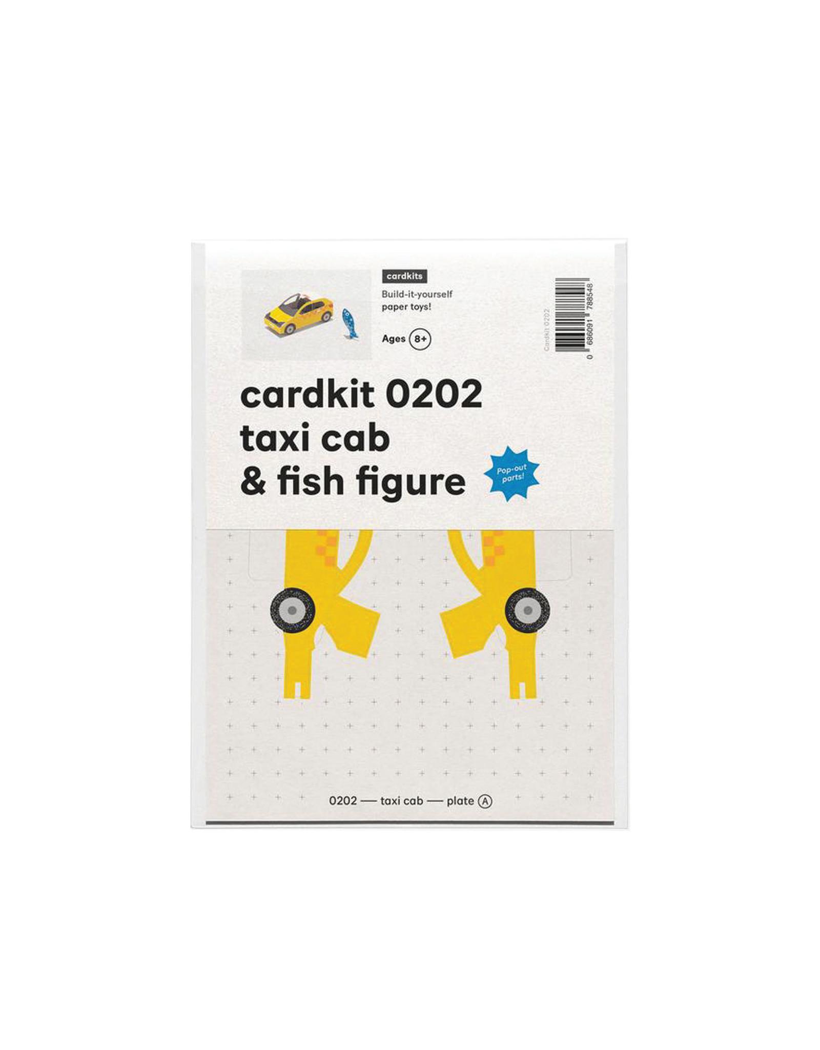 cardkit 0202: taxi cab & fish figure