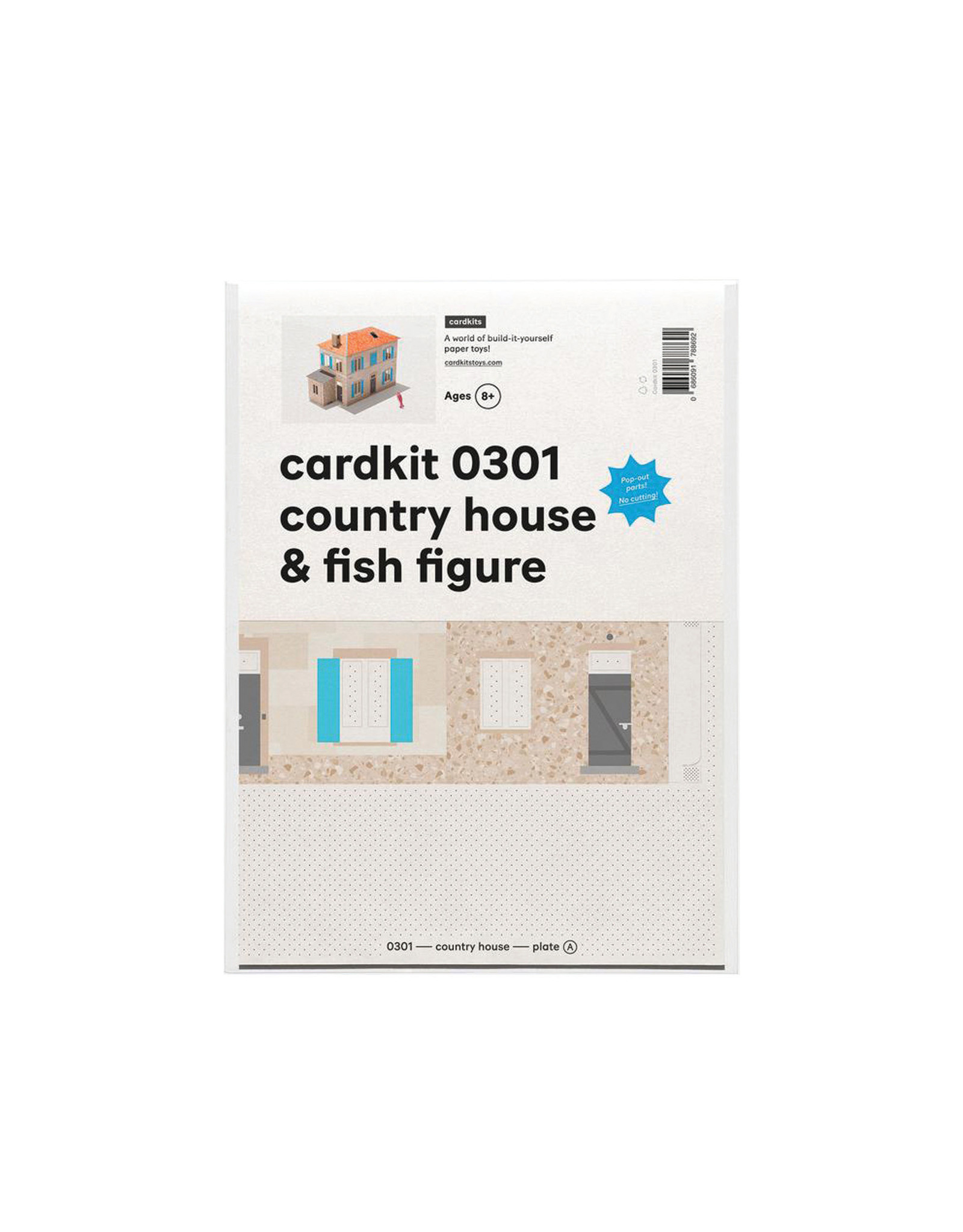 cardkit 0301: country house & fish figure