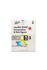 cardkit 0402: locomotive & fish figure