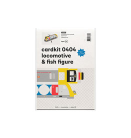 cardkit 0404: locomotive & fish figure