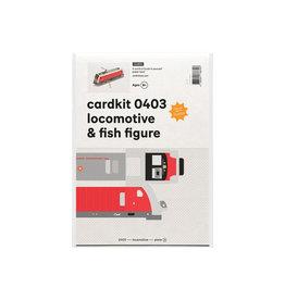cardkit 0403: locomotive & fish figure