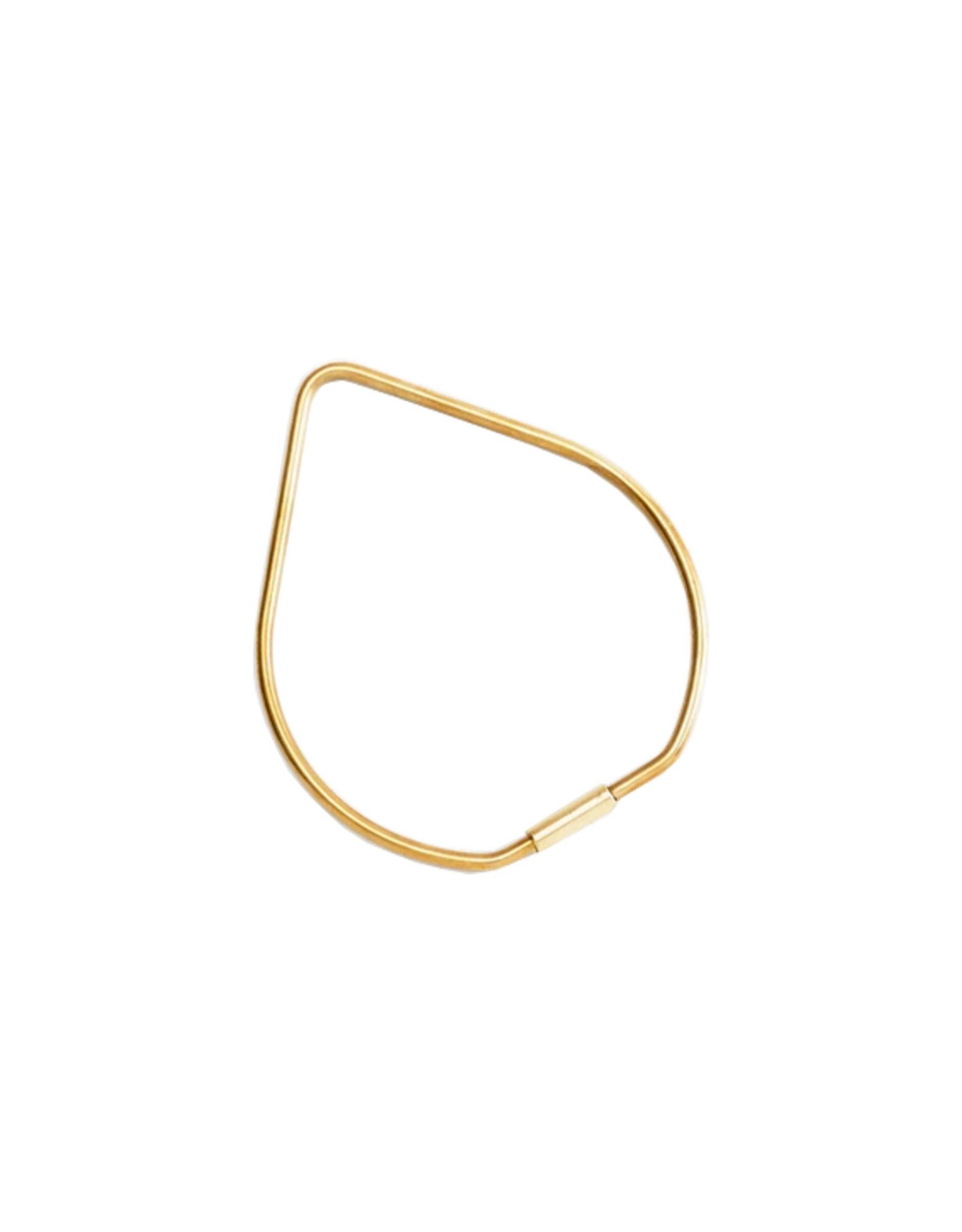 Areaware Contour Key Ring, Drop, Brass