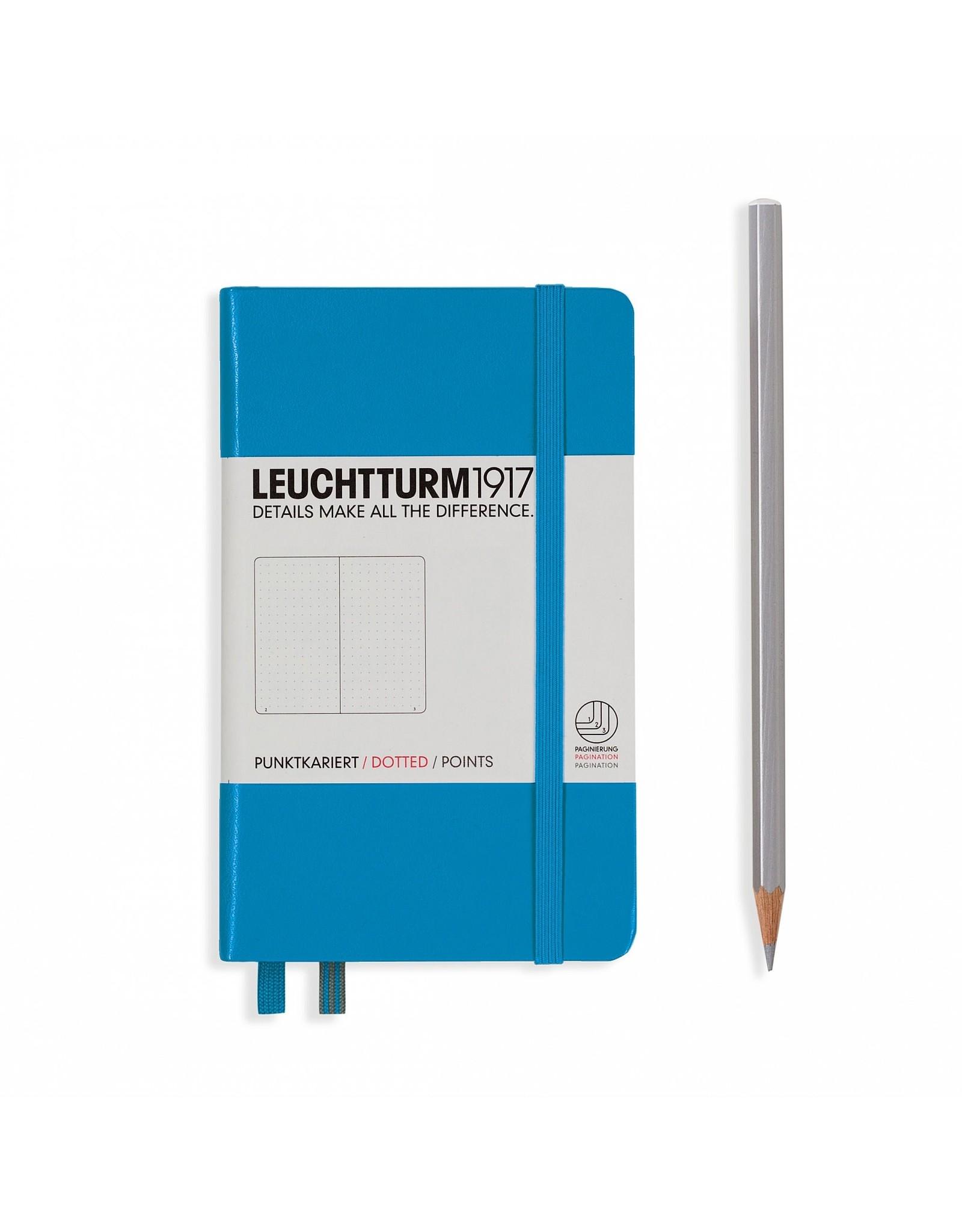 Leuchtturm Dotted Pocket Hardcover Notebook, Azure