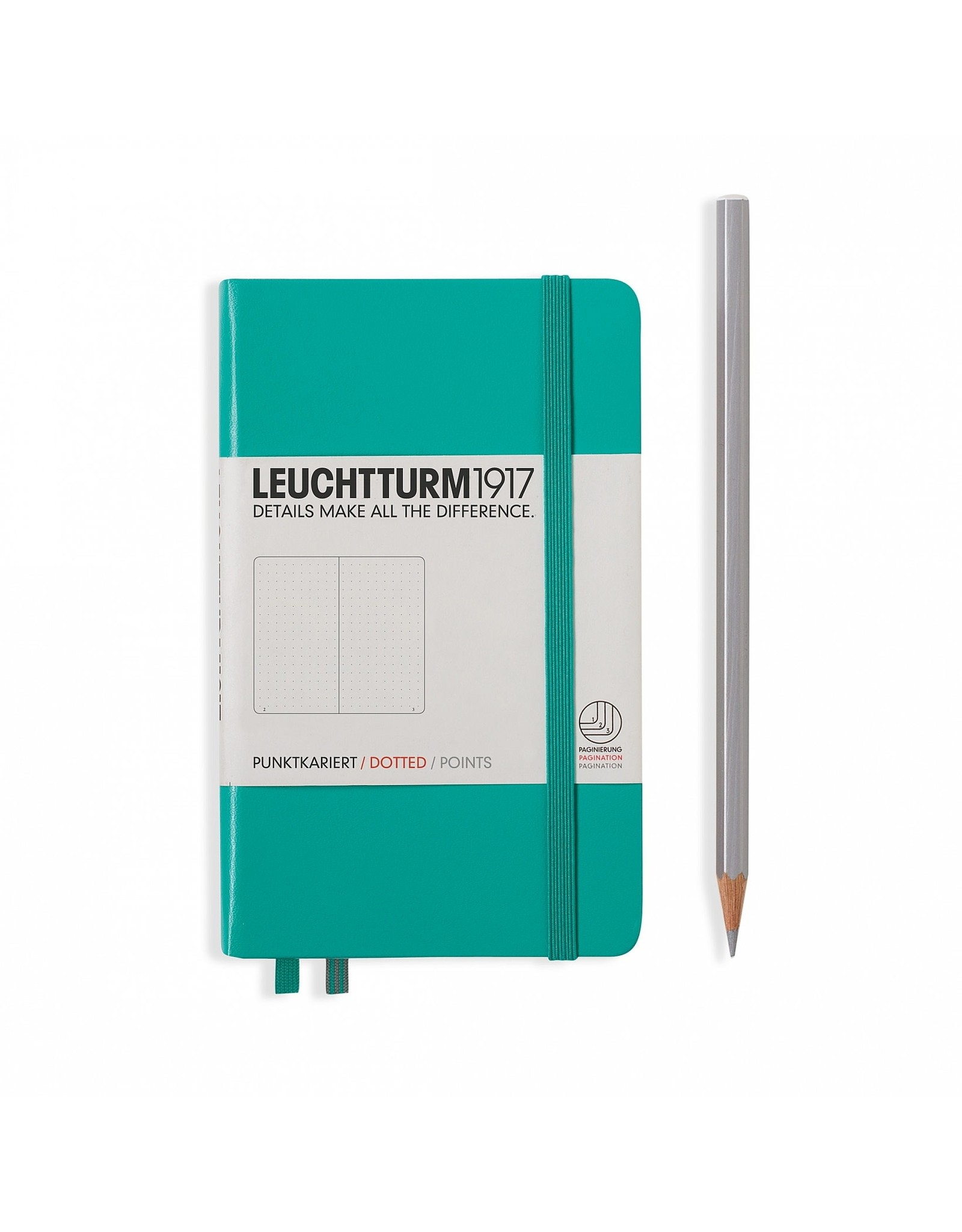 Leuchtturm Dotted Pocket Hardcover Notebook, Emerald