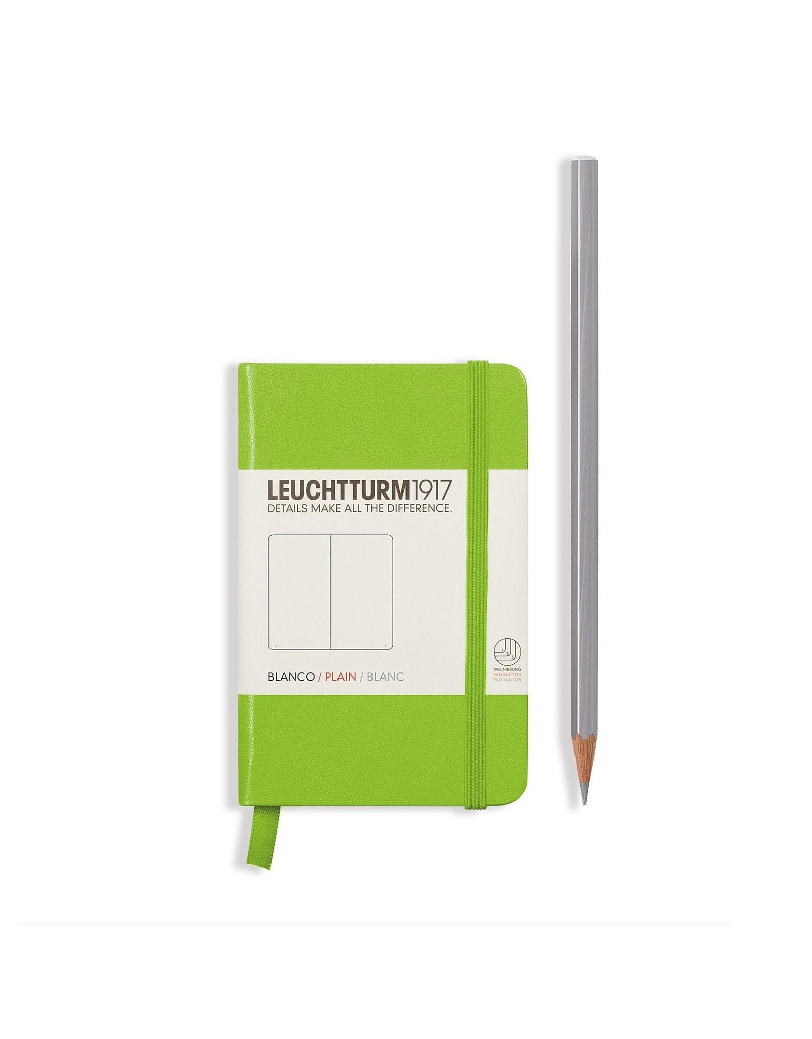 Leuchtturm Plain Mini Hardcover Notebook, Lime