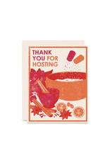 Heartell Press Thank You For Hosting Card