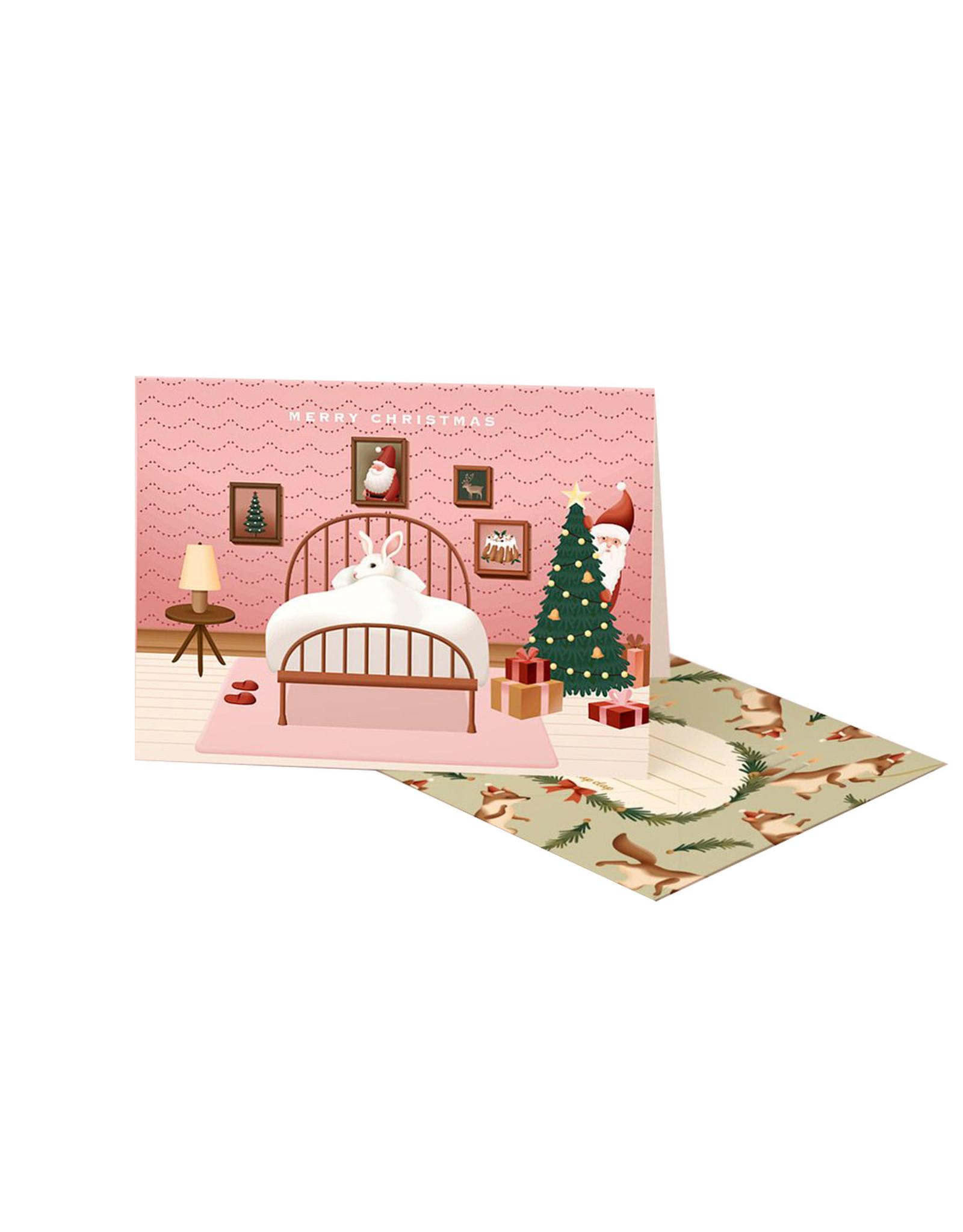 Clap Clap Card Creeping Santa