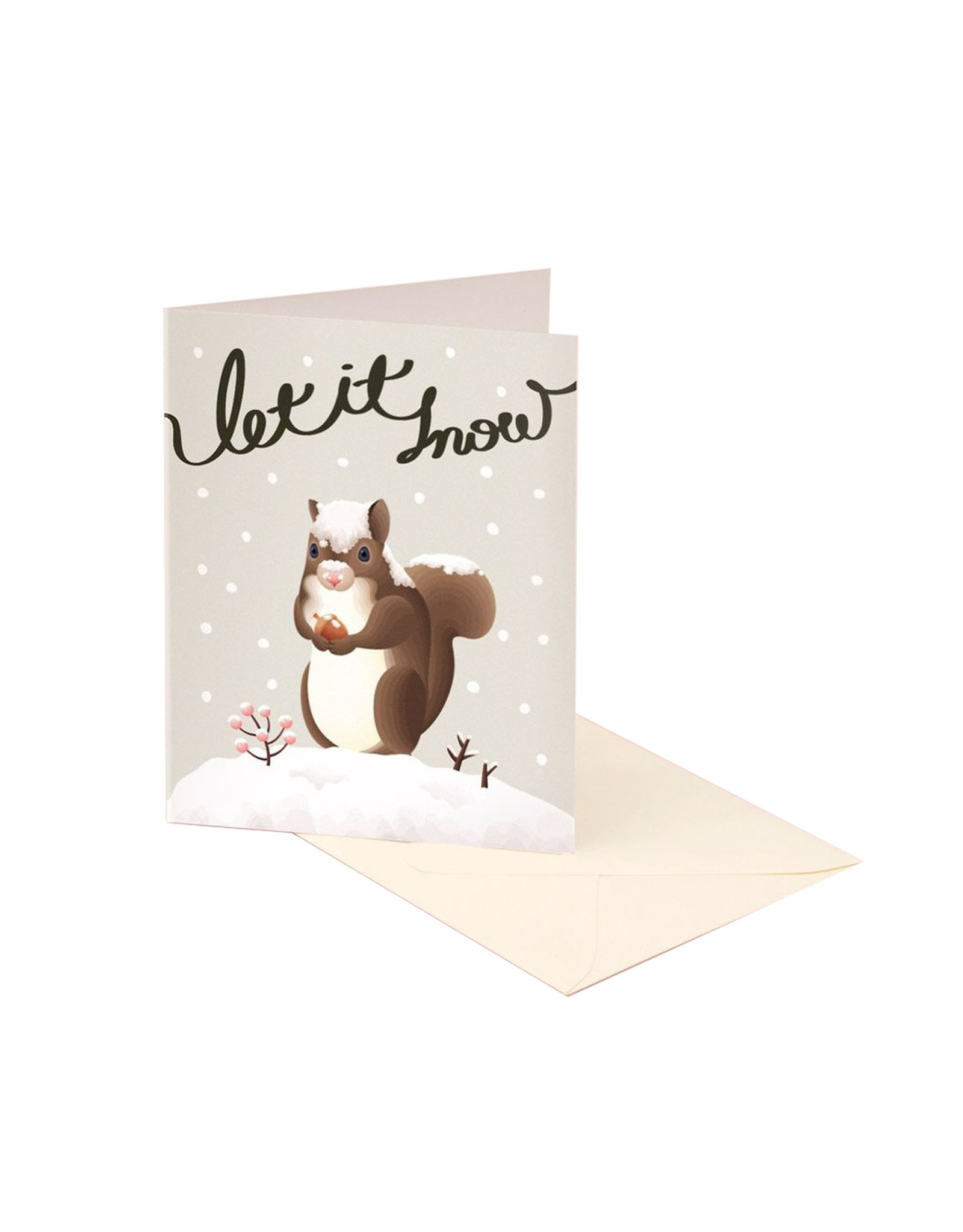 Clap Clap Let it Snow Squirrel Card Set