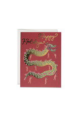 Red Cap Holiday Dragon Card