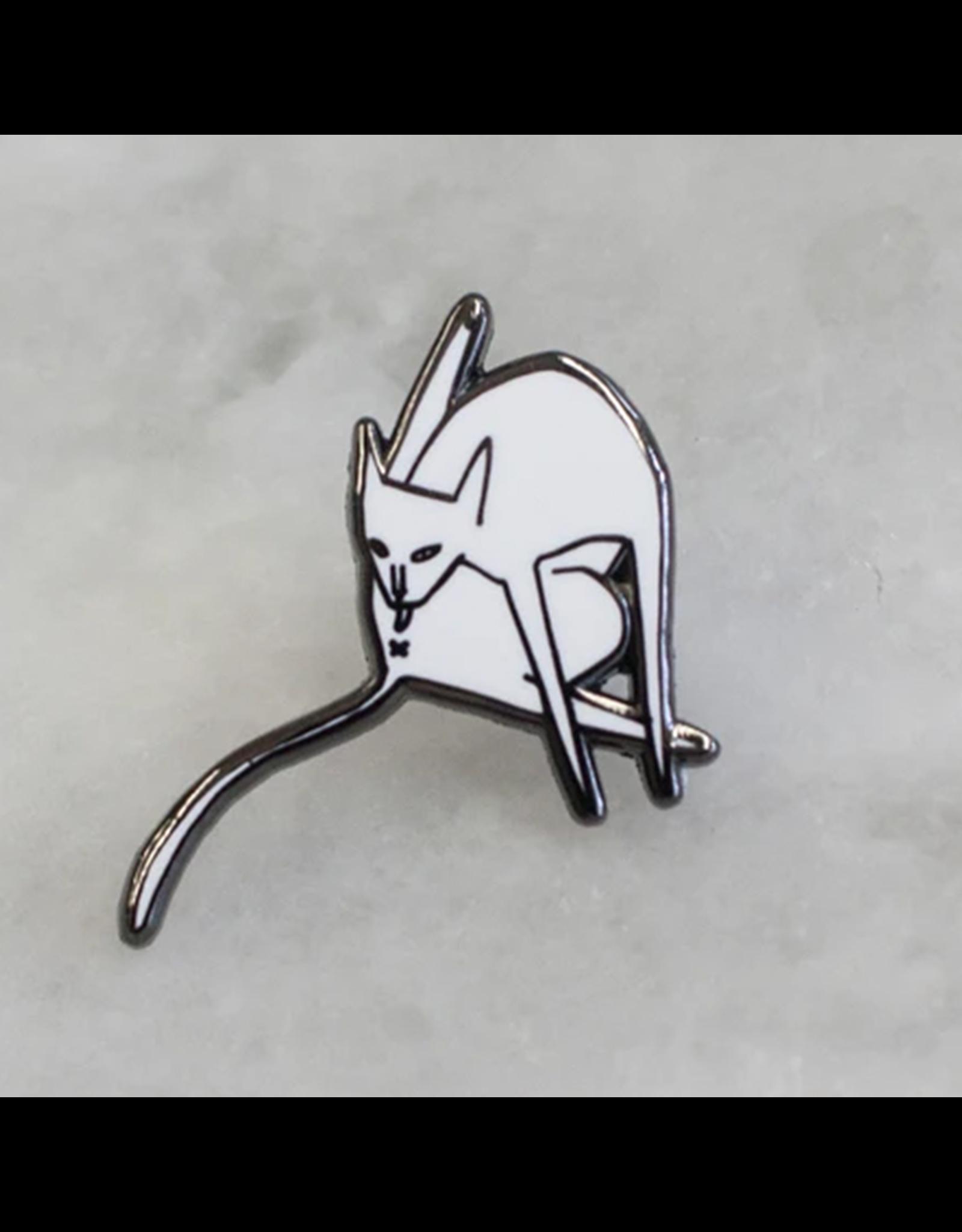 Stay Home Club Bathing Cat Pin